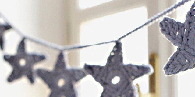 Idee per decorare: stelline all'uncinetto