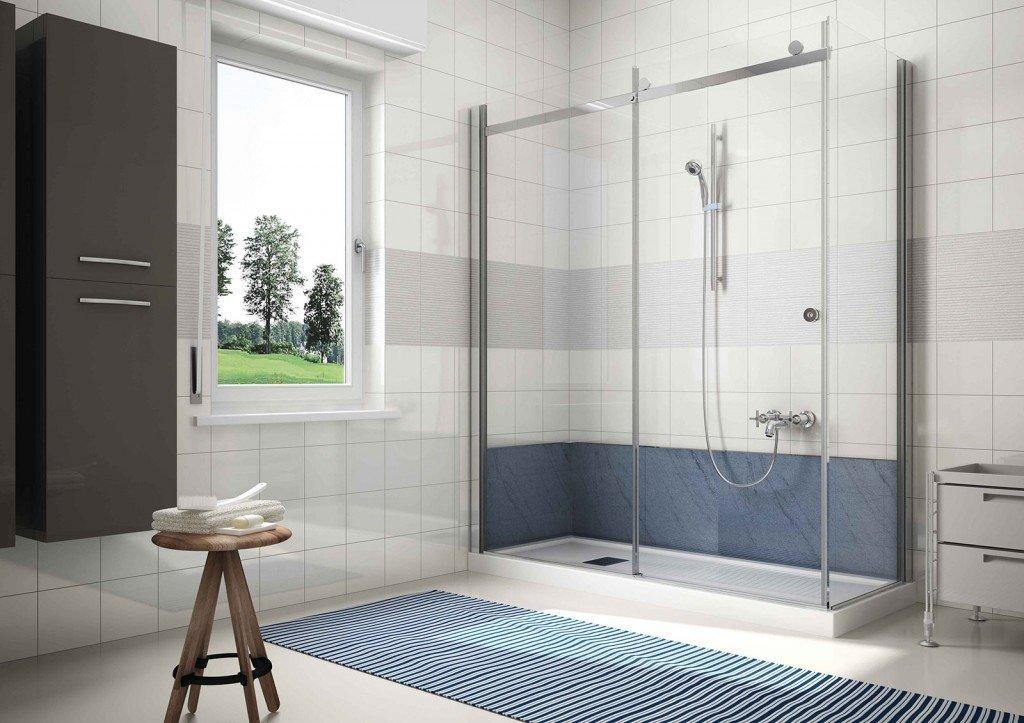 Con la soluzione base G-magic Easy di Grandform si può trasformare la vasca in doccia in sole 8 ore. Comprende il piatto doccia di 8 cm rifilabile che si adatta a qualsiasi tipo di installazione e i cristalli per il box doccia di 8 mm con trattamento anticalcare su entrambi i lati. Per il rivestimento delle pareti dove poggiava la vasca sono disponibili due pannelli di fondo multistrato, spessi 6 mm, nei colori bianco o grigio vesuvio con profili in finitura cromo. L'intervento non prevede la sostituzione della rubinetteria esistente, ma l'installazione di un saliscendi. Prezzo su preventivo. www.gmagic.it