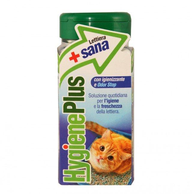 Hygiene Plus Lettiera+Sana è la nuova soluzione igienizzante per la lettiera per gatti di Giuntini una nuovissima soluzione in granuli da aggiungere alla lettiera per eliminare gli odori e abbattere la carica batterica. Hygiene Plus è composta da minerali e sostanze vegetali e contiene un igienizzante, il Presidio Medico Chirurgico Complex 5 capace di annullare il proliferare dei batteri. Grazie all'igienizzante Odor Stop - una molecola brevettata – Hygiene Plus garantisce igiene e freschezza alla lettiera e all'ambiente circostante. Disponibile in confezione di plastica rettangolare da 500 ml, con tappo ermetico per mantenere l'azione igienizzante, Hygiene Plus Lettiera+Sana è comodo da trasportare e da maneggiare ogni giorno. La confezione da 500 ml dura fino a 4/6 settimane, ovvero è consigliata per 20/25kg di lettiera. Prezzo 2,99 euro – www.giuntinipet.it