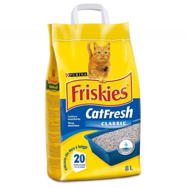 FRISKIES CATFRESH CLASSIC è la lettiera specificatamente studiata per garantire il massimo dell'igiene all'amico felino. Lettiera super assorbente che garantisce il controllo degli odori per oltre 20 giorni, assicurando allo stesso tempo il massimo della praticità. Prezzo 5,35 euro www.friskies.it