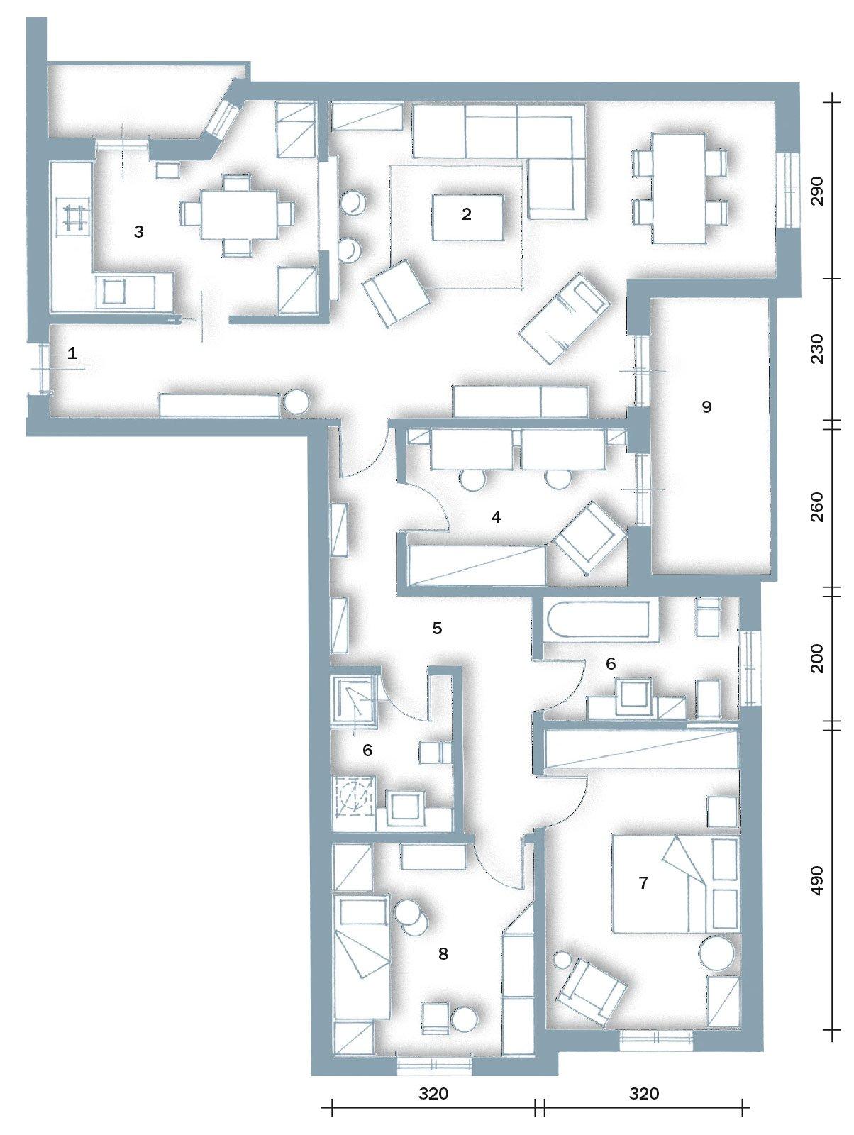 Una casa formato famiglia cose di casa - Pianta di una cucina ...