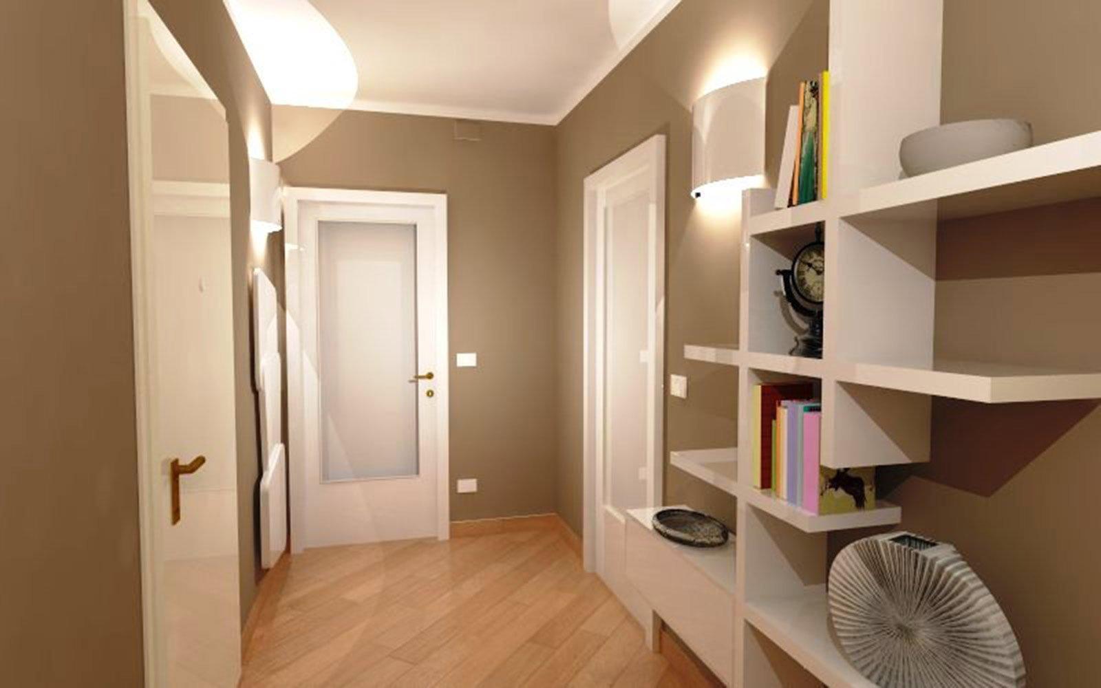 Corridoio quali finiture per pavimento e porte cose di for Idee colori pareti ingresso