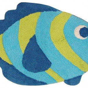 Il tappetino Collez. Samba Kids di ABC Italia con sagoma di pesciolino misura 50 x 80 oppure 60 x 80 cm. Prezzo versione base 10 euro. www.abc-oriental.com