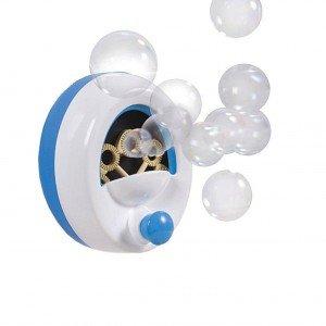 Il gioco per fare le bolle di Summer (distr. BabyLove2000) si applica alla parete della vasca grazie a ventose. Prezzo 17 euro. www.babylove2000.com