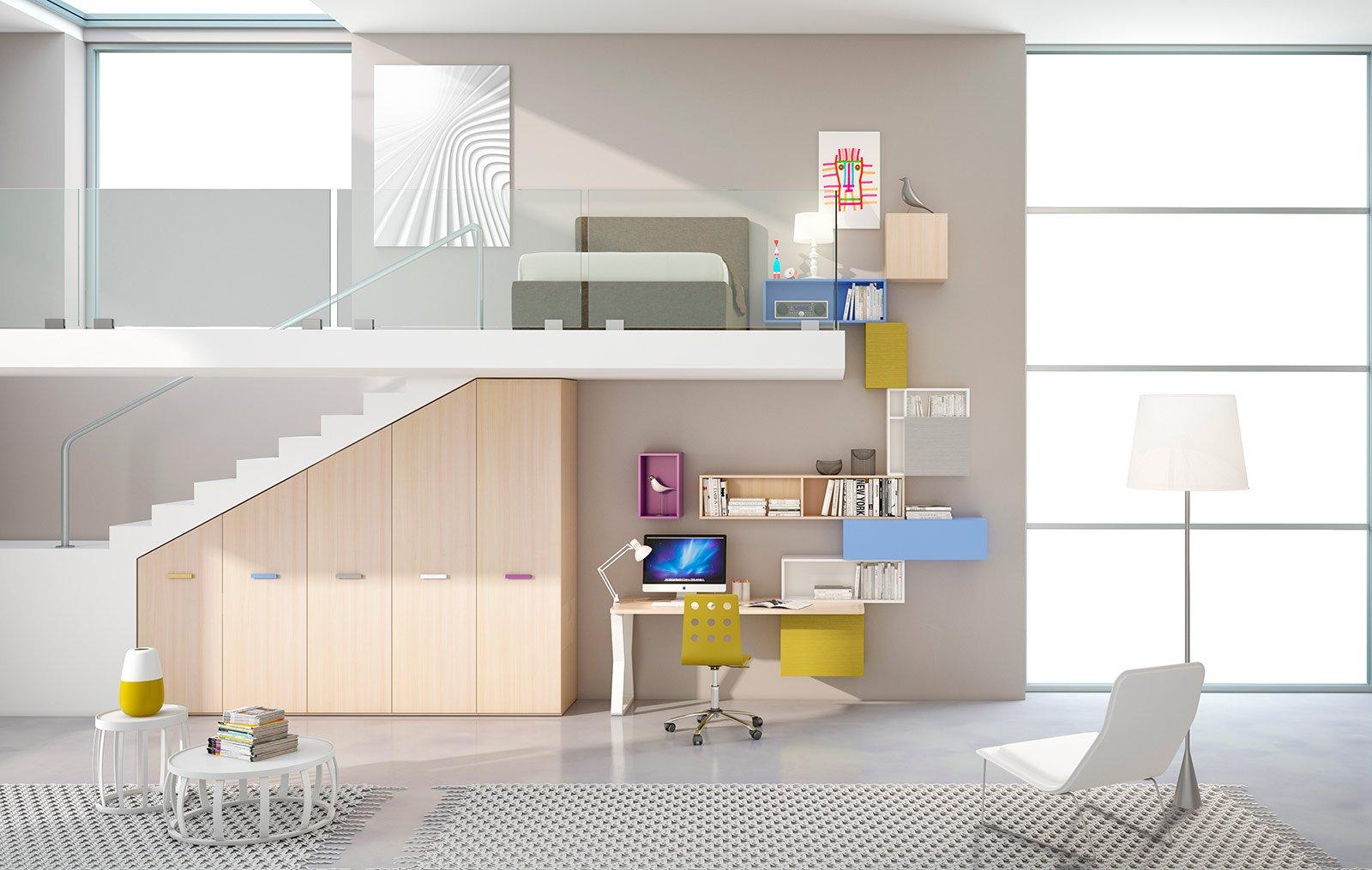 Camerette per dormire studiare e giocare cose di casa - Ikea camerette a soppalco ...