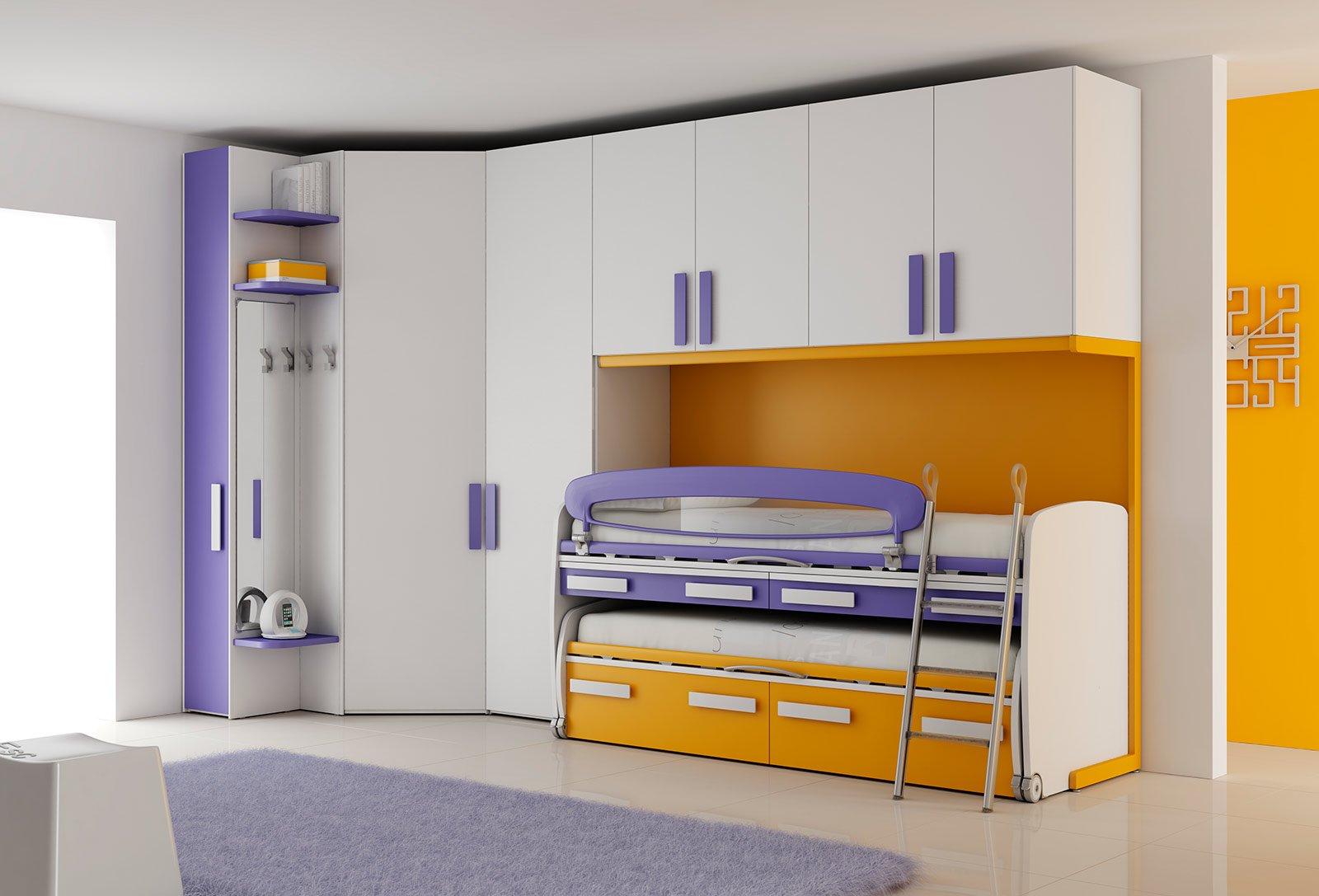 Camerette per dormire studiare e giocare cose di casa for Piani e disegni di casa con 2 camere da letto