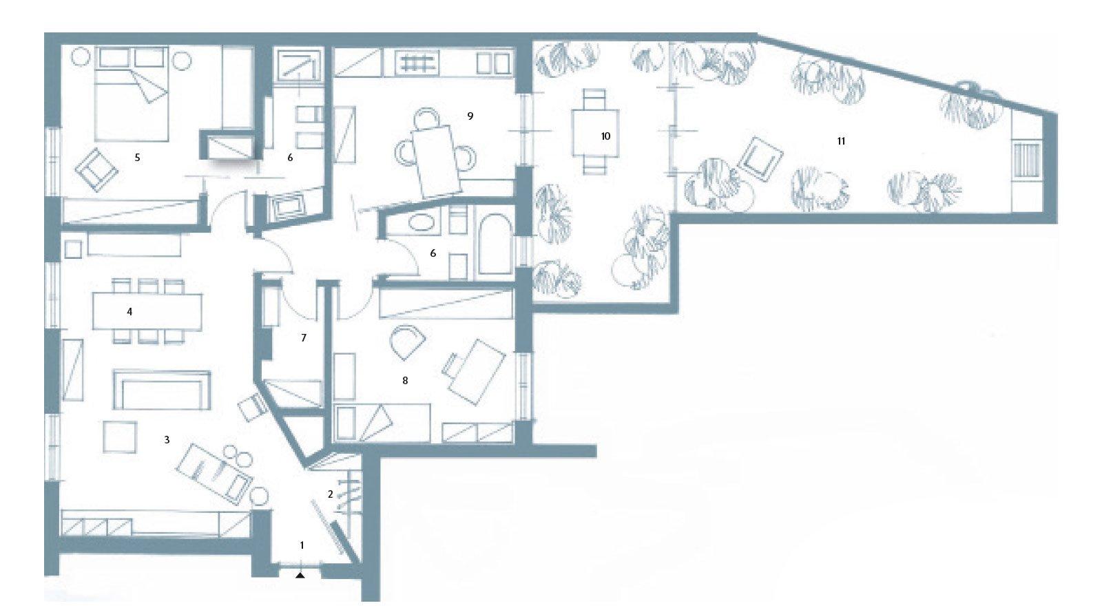 Via il corridoio spazi pi ampi cose di casa for Grandi planimetrie per le case