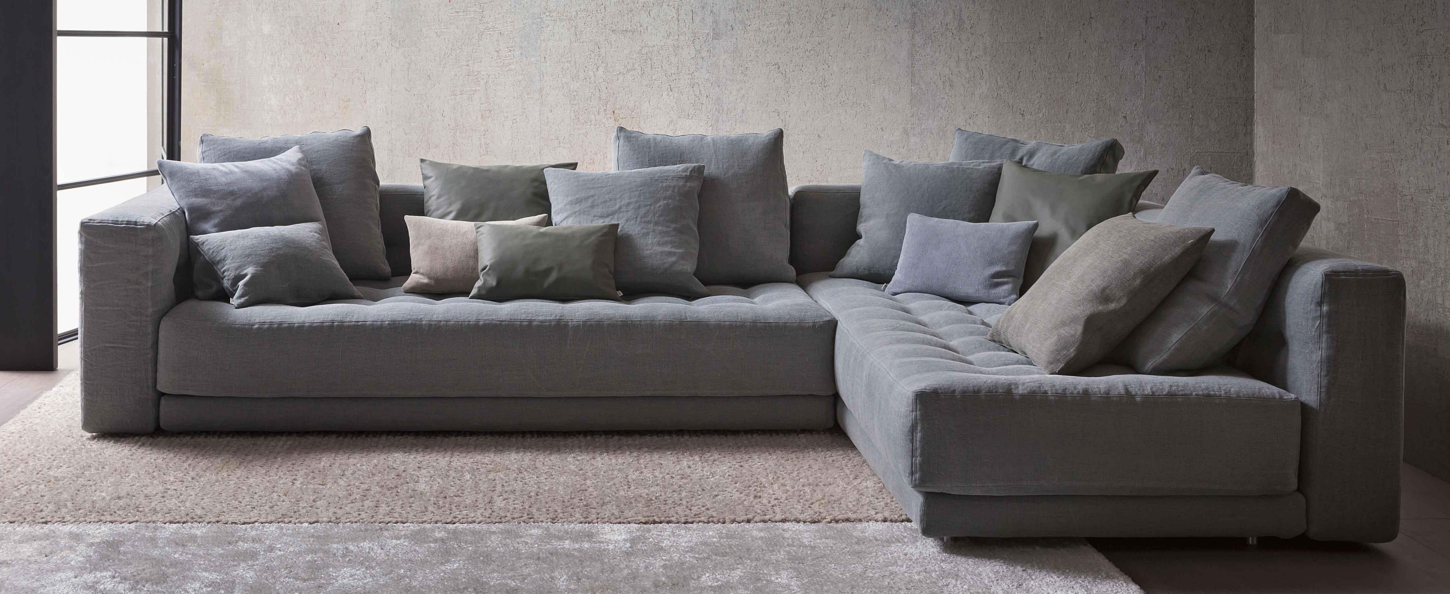 Divani angolari componibili una l per arredare il - Prodotti per pulire il divano in tessuto ...