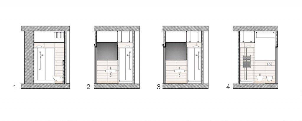 In 40 mq cambiano le prospettive cose di casa - Progetto bagno 4 mq ...