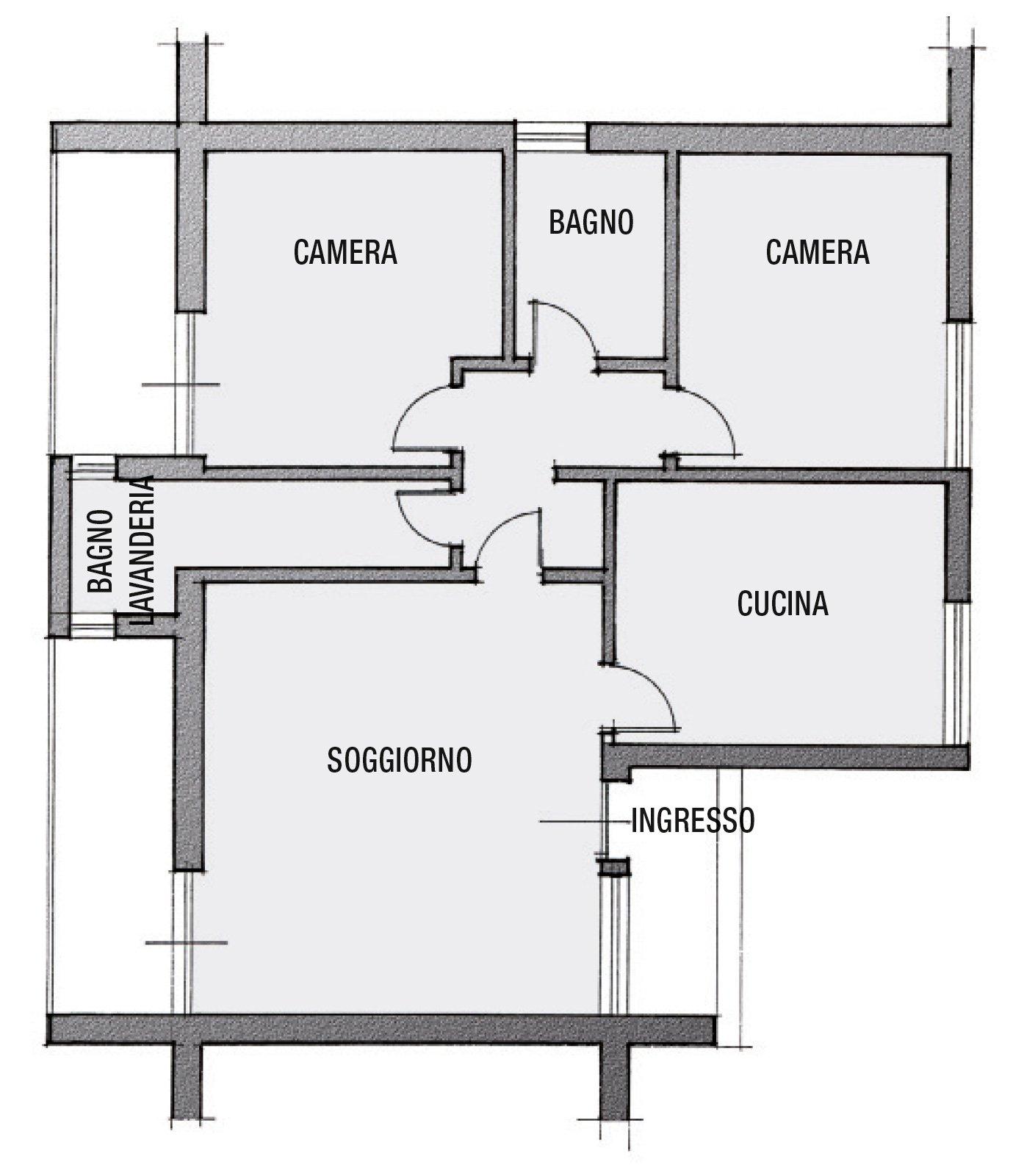 Da corridoio a bagno progetto in pianta cose di casa - Pianta bagno piccolo ...