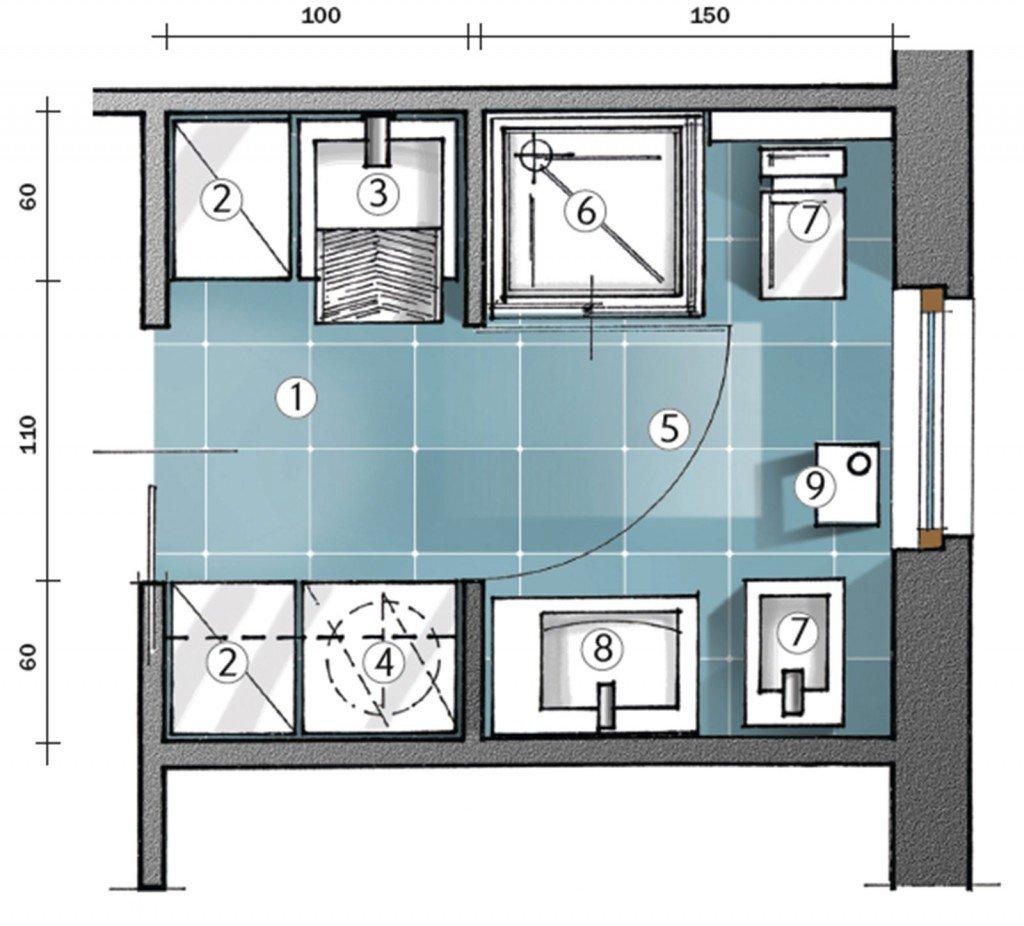 L 39 antibagno che fa da lavanderia cose di casa - Progetto bagno 2 mq ...