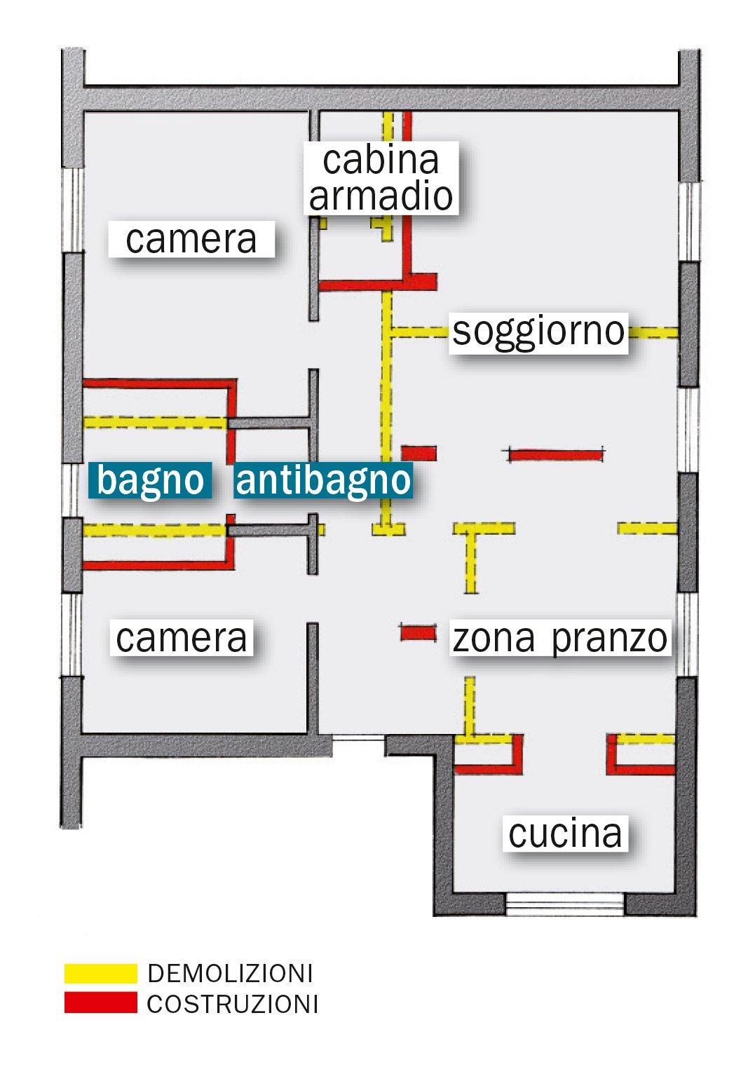Bagno un progetto per renderlo pi grande e ricavare l - Progetto bagno 2 mq ...