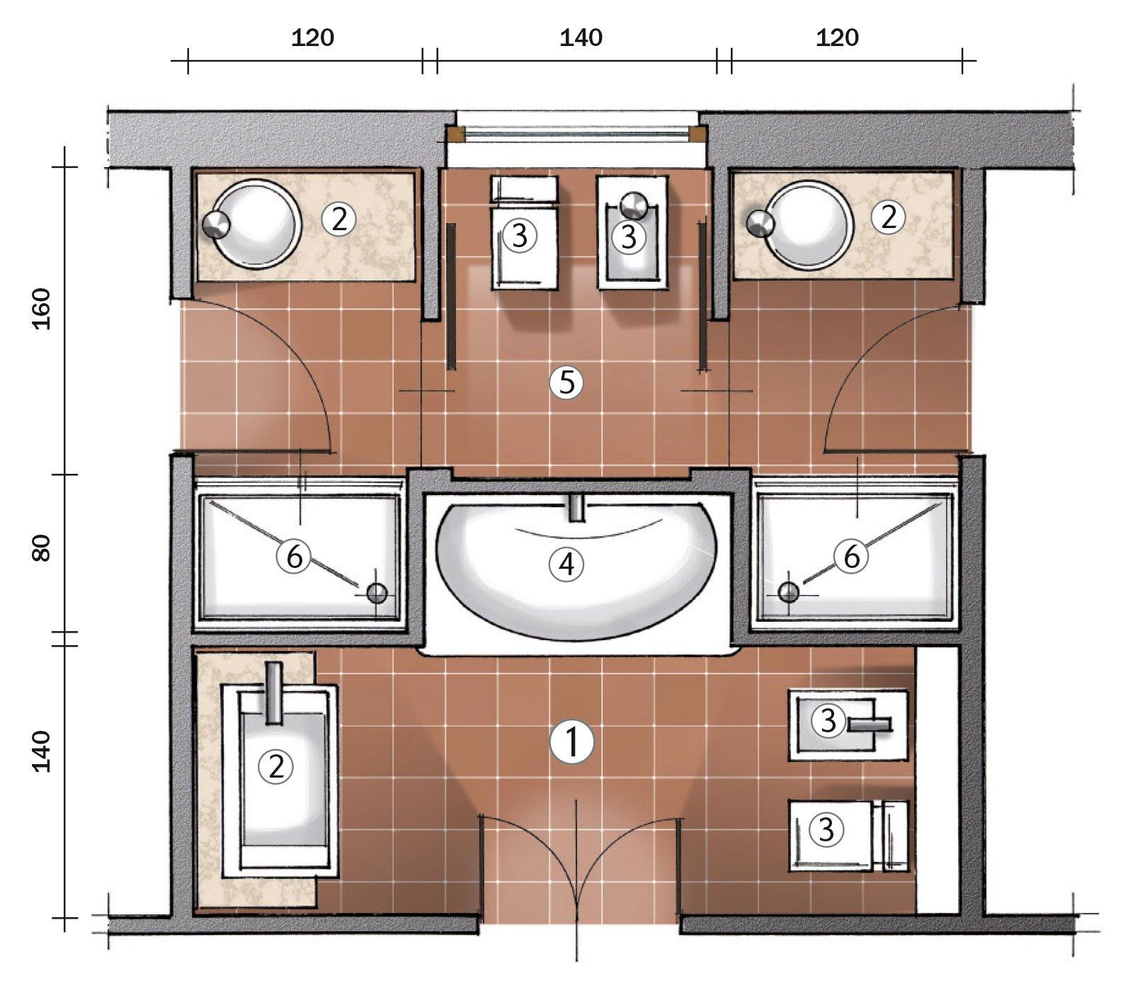 Ricavare due bagni da uno cose di casa for Bagno 6 mq