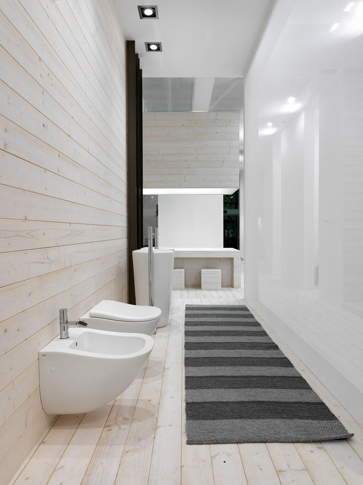 Muretto Per Sanitari Sospesi sanitari sospesi per bagno contemporaneo, foto wc e bidet