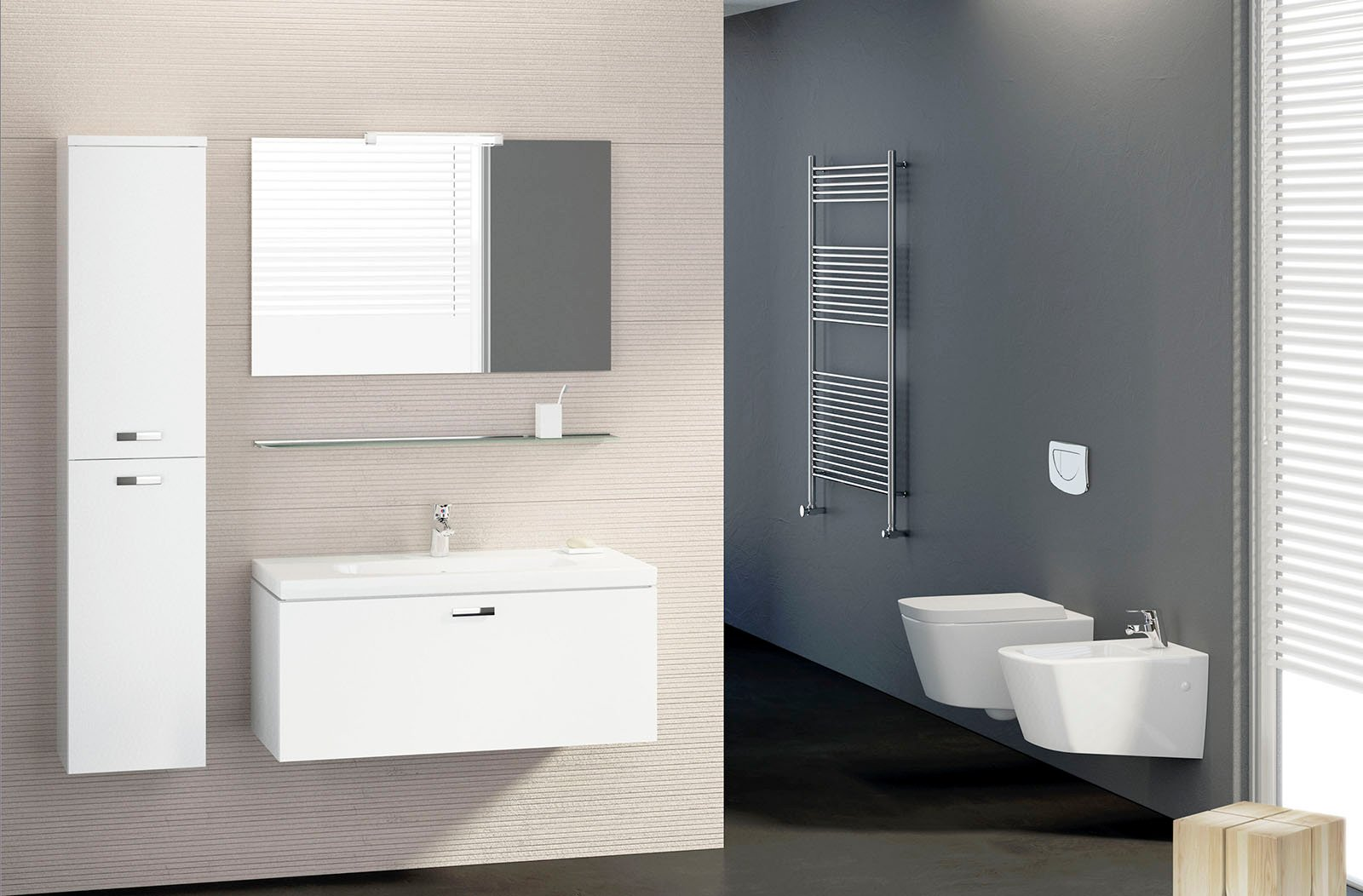 Sanitari sospesi per un bagno contemporaneo cose di casa for Sanitari bagno dolomite