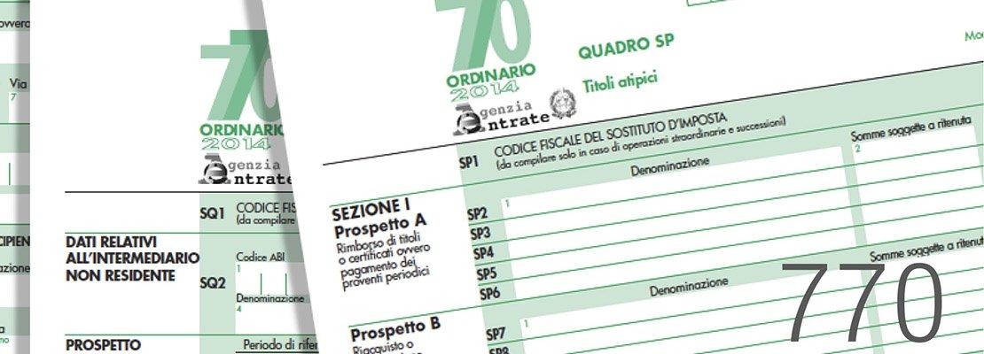 Modello 770 termini di consegna prorogati a 19 settembre for Modello di casa