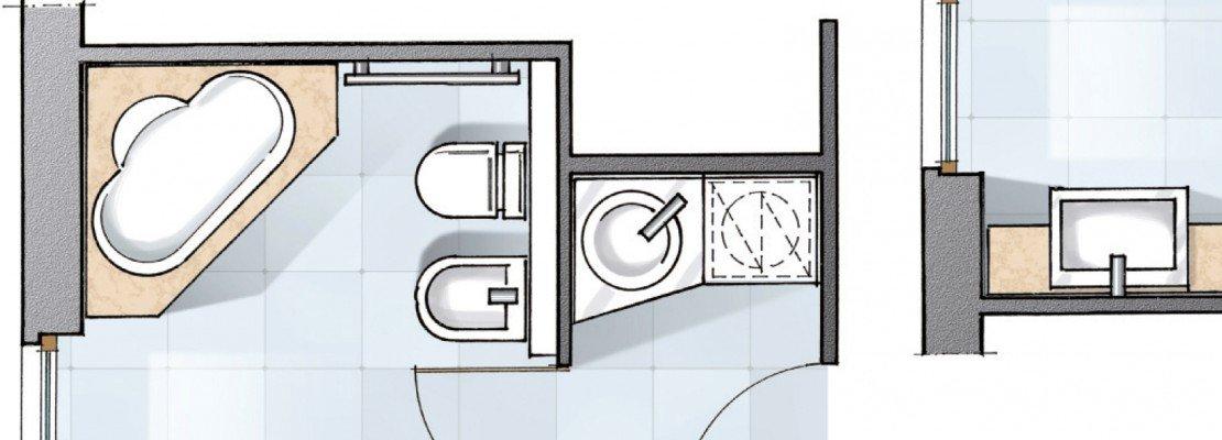 Bagno un progetto per renderlo pi grande e ricavare l 39 antibagno cose di casa - Bagno e antibagno ...