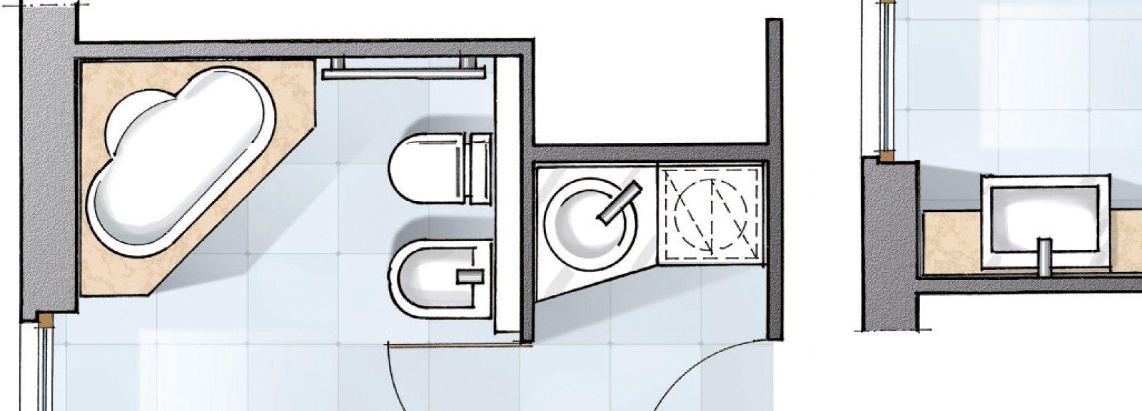 Bagno: un progetto per renderlo più grande e ricavare lantibagno ...