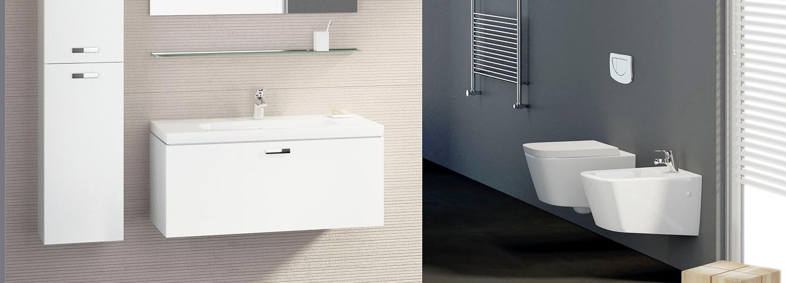 Sanitari sospesi per un bagno contemporaneo cose di casa - Rubinetti sanitari bagno ...