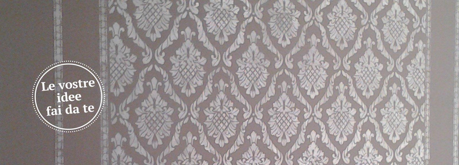 Decorare la parete a stencil cose di casa - Stencil per parete ...