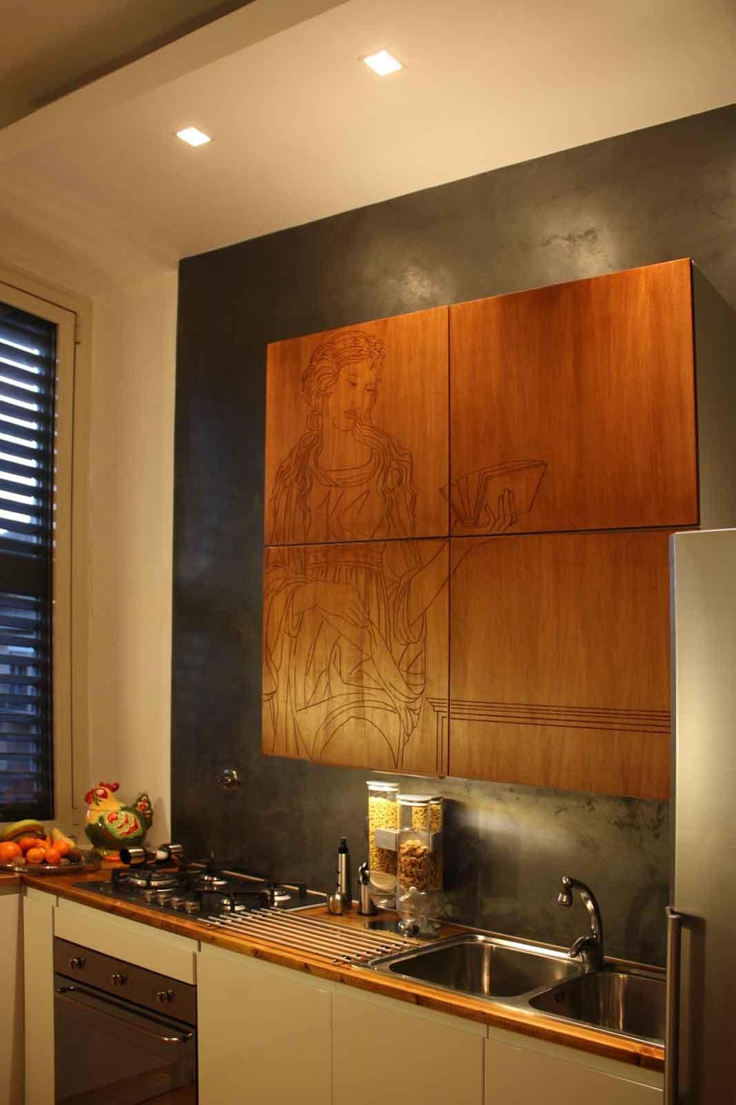 Rinnovare la cucina decorando le ante con incisione cose - Rinnovare ante cucina ...