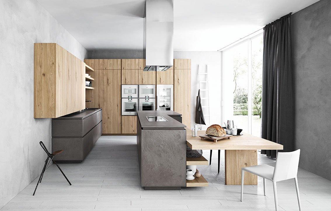 Dal legno alla pietra i materiali tradizionali in cucina for Immagini design