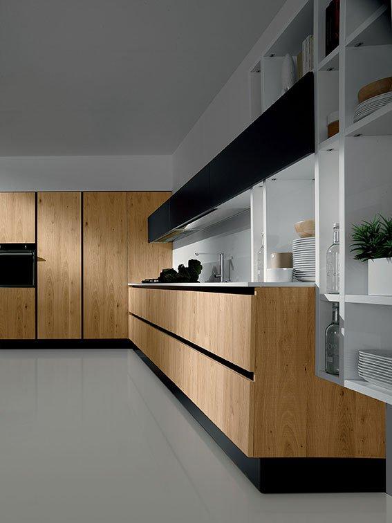 Dal legno alla pietra i materiali tradizionali in cucina - Cucina bianca e legno naturale ...