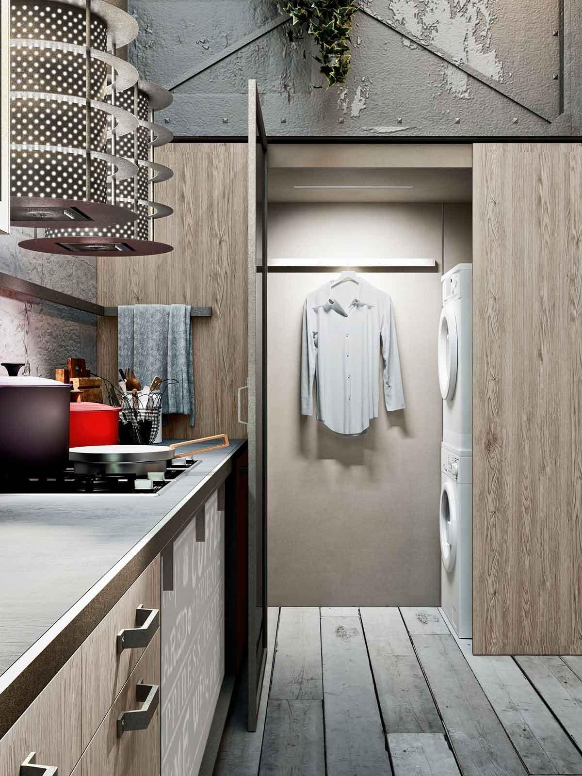 Una cucina con cabina lavanderia cose di casa for Piccoli piani di casa cabina di log