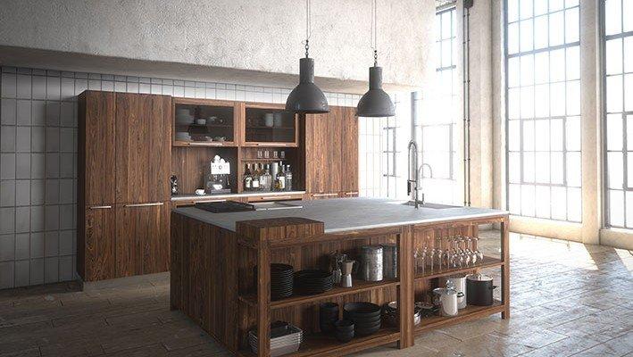 Dal legno alla pietra, i materiali tradizionali in cucina   cose ...