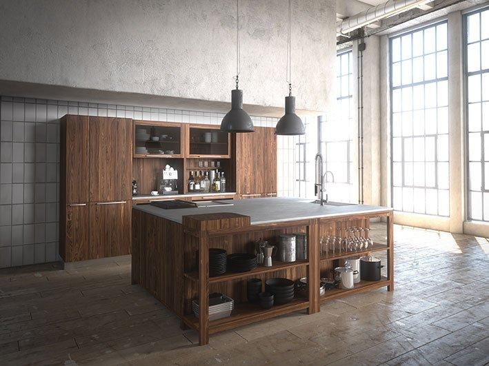 dal legno alla pietra, i materiali tradizionali in cucina  cose, Disegni interni