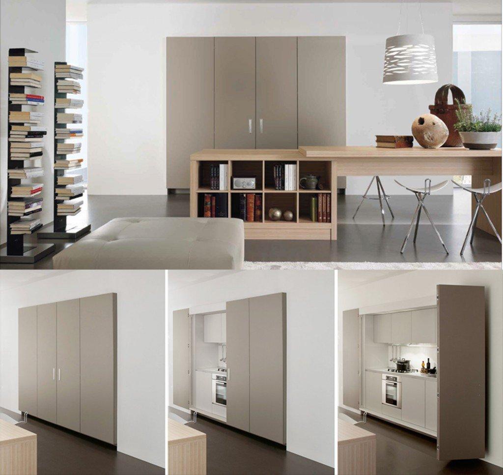 La Cucina Nell'armadio Cose Di Casa #5F4D40 1024 967 Cucine Ad Angolo Piccoli Spazi