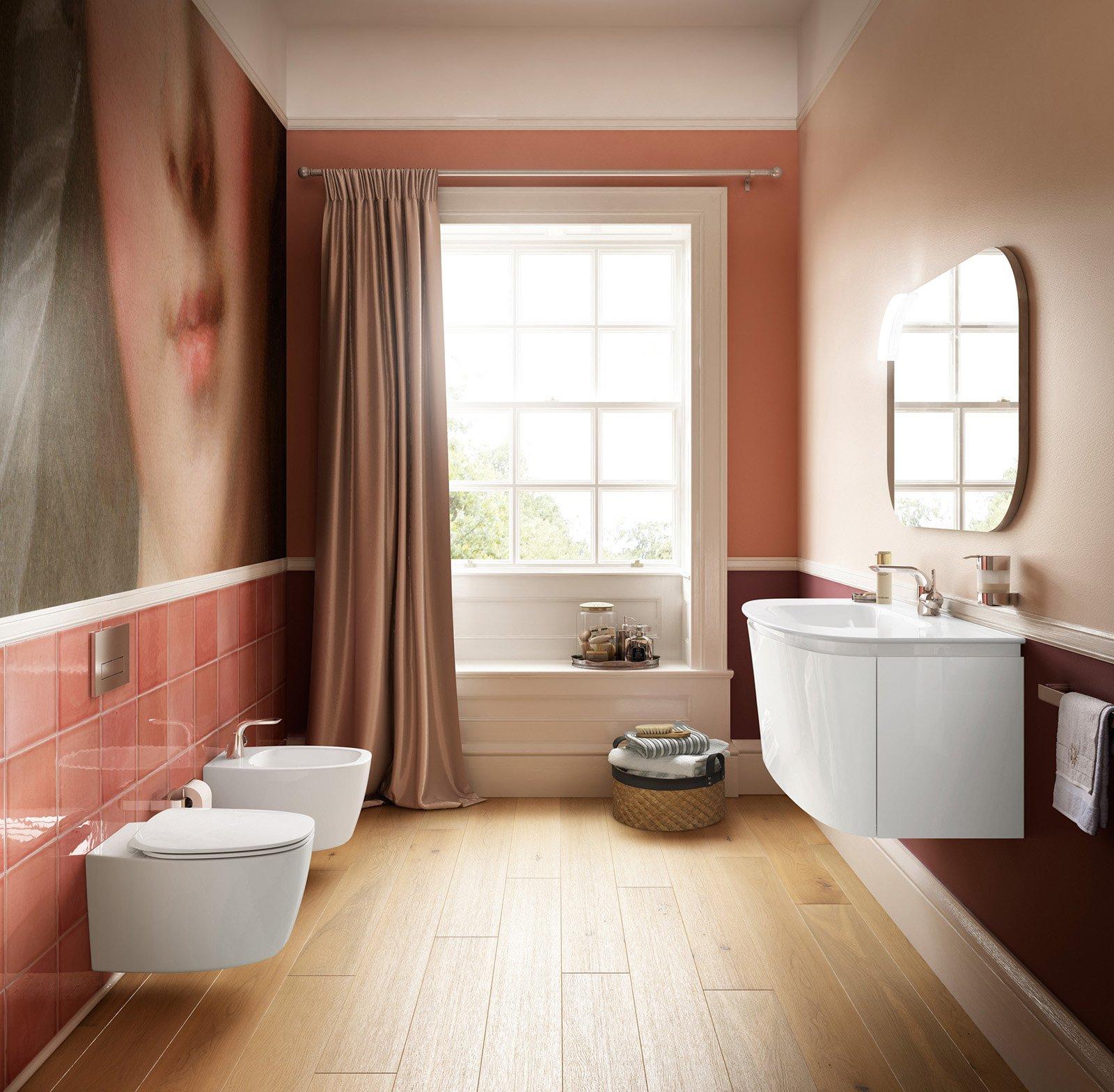 Sanitari sospesi per un bagno contemporaneo cose di casa - Altezza lavandino bagno ...