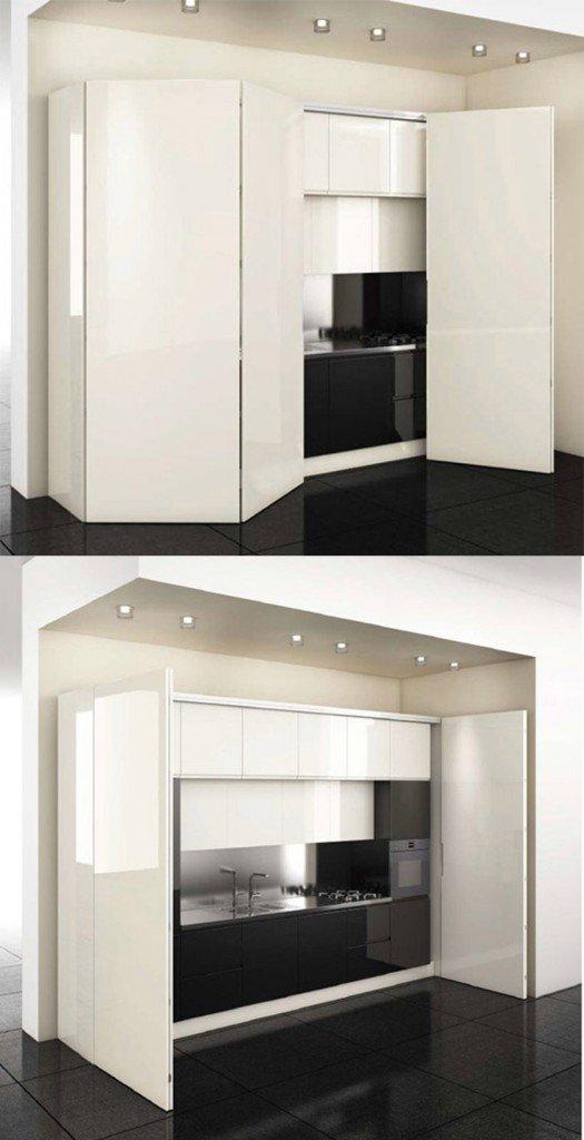 La cucina nell 39 armadio cose di casa - Cucine a scomparsa monoblocco ...