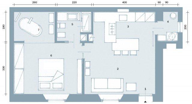 50 mq obiettivo massimo comfort cose di casa for Bagno 7 mq