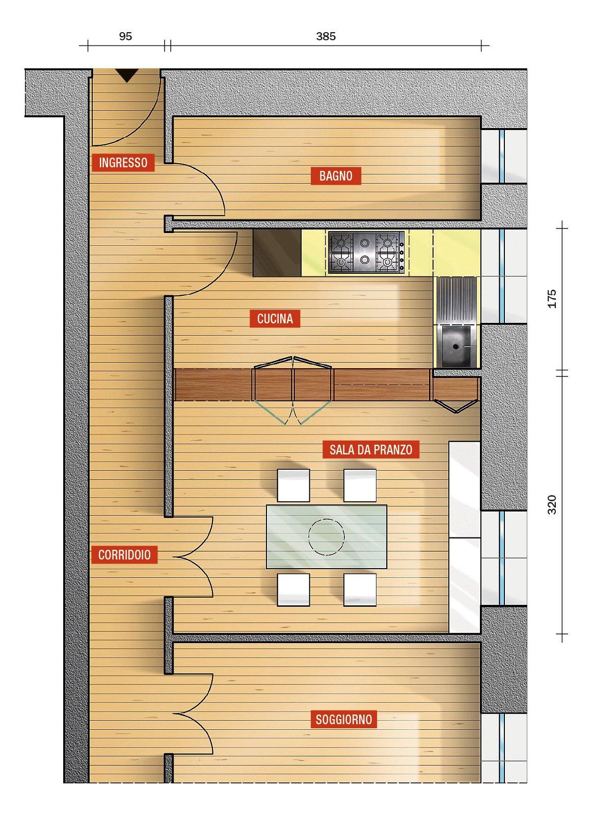 La cucina separata ma con vista e passavivande cose di casa for Foto di cucina e soggiorno a pianta aperta