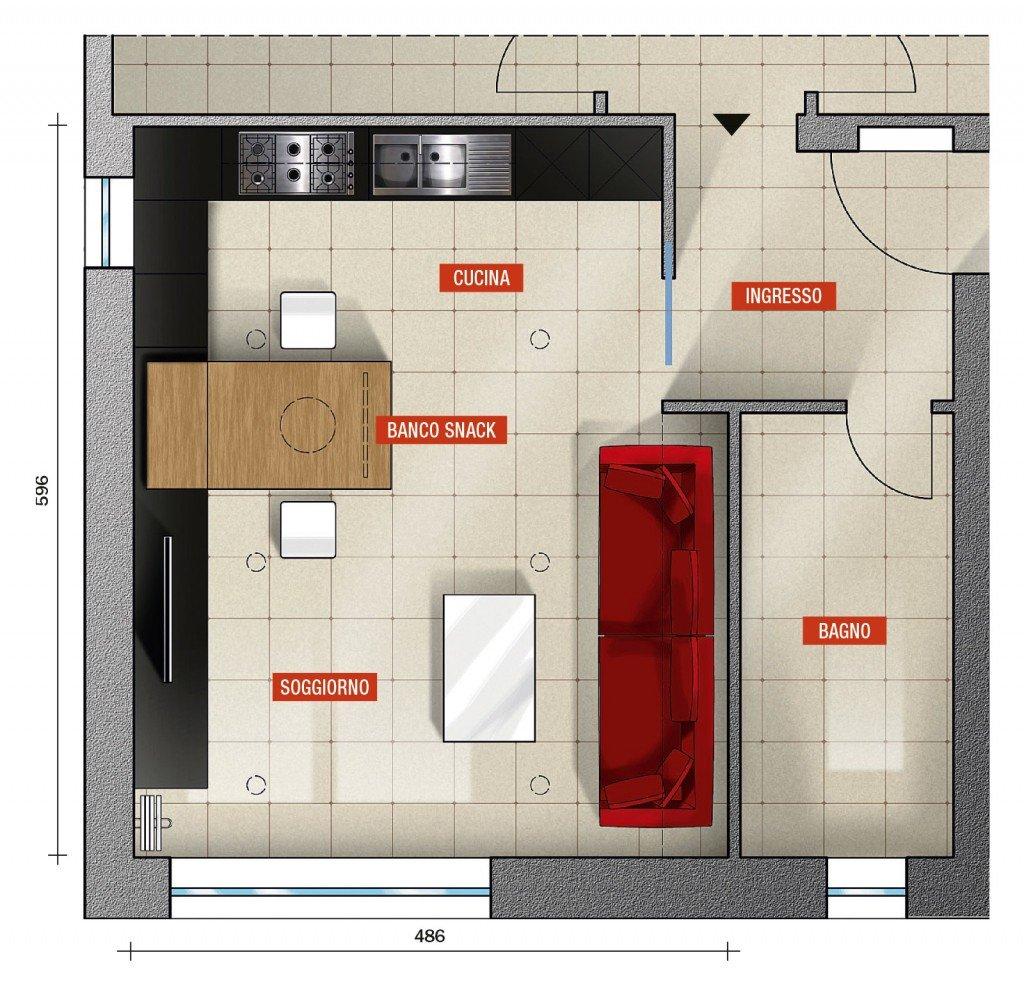 Cucina e living sono un tutt uno cose di casa for Progetto soggiorno