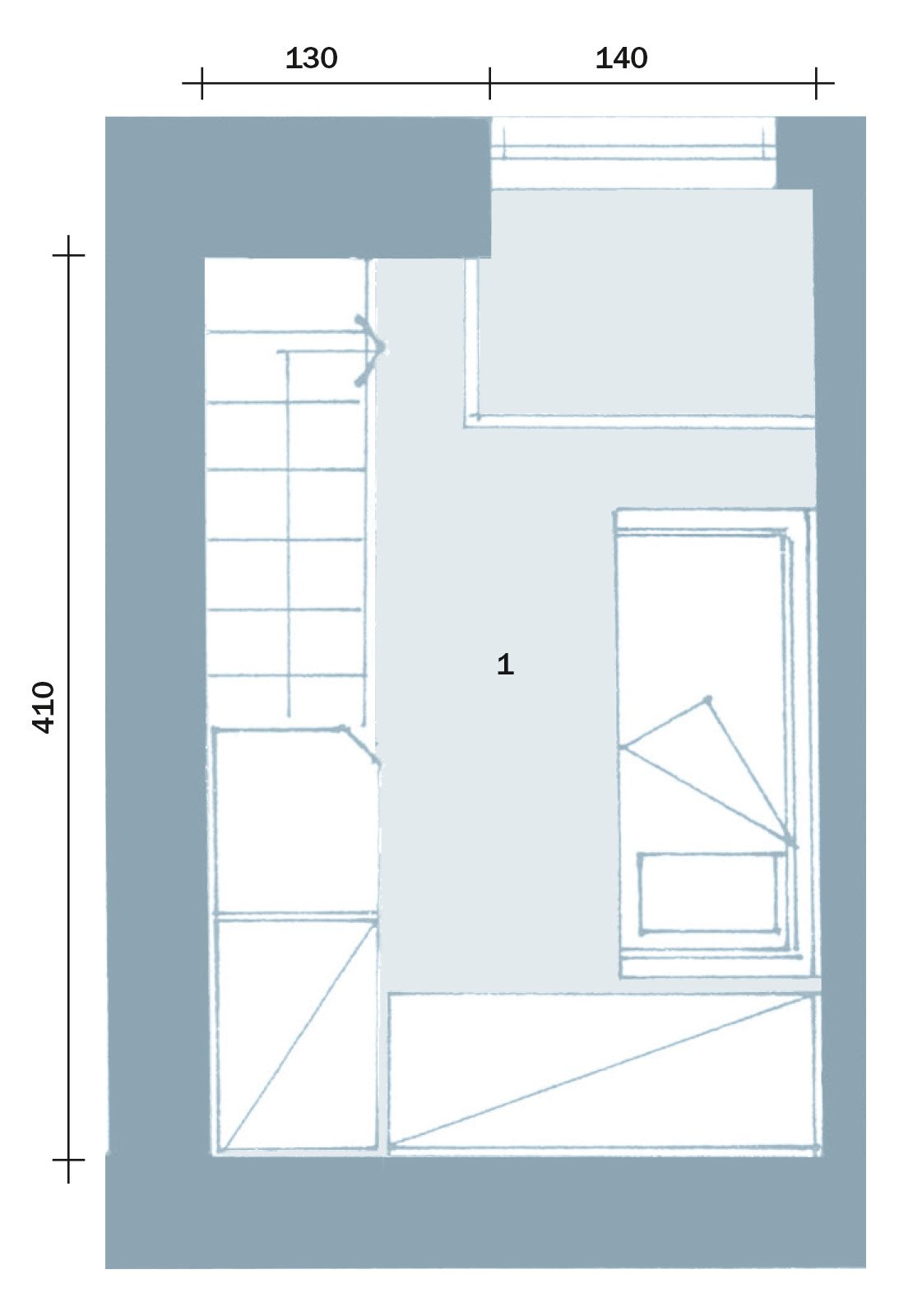 Primo piano casa rezzani fiorentini cose di casa for Casa piano diviso
