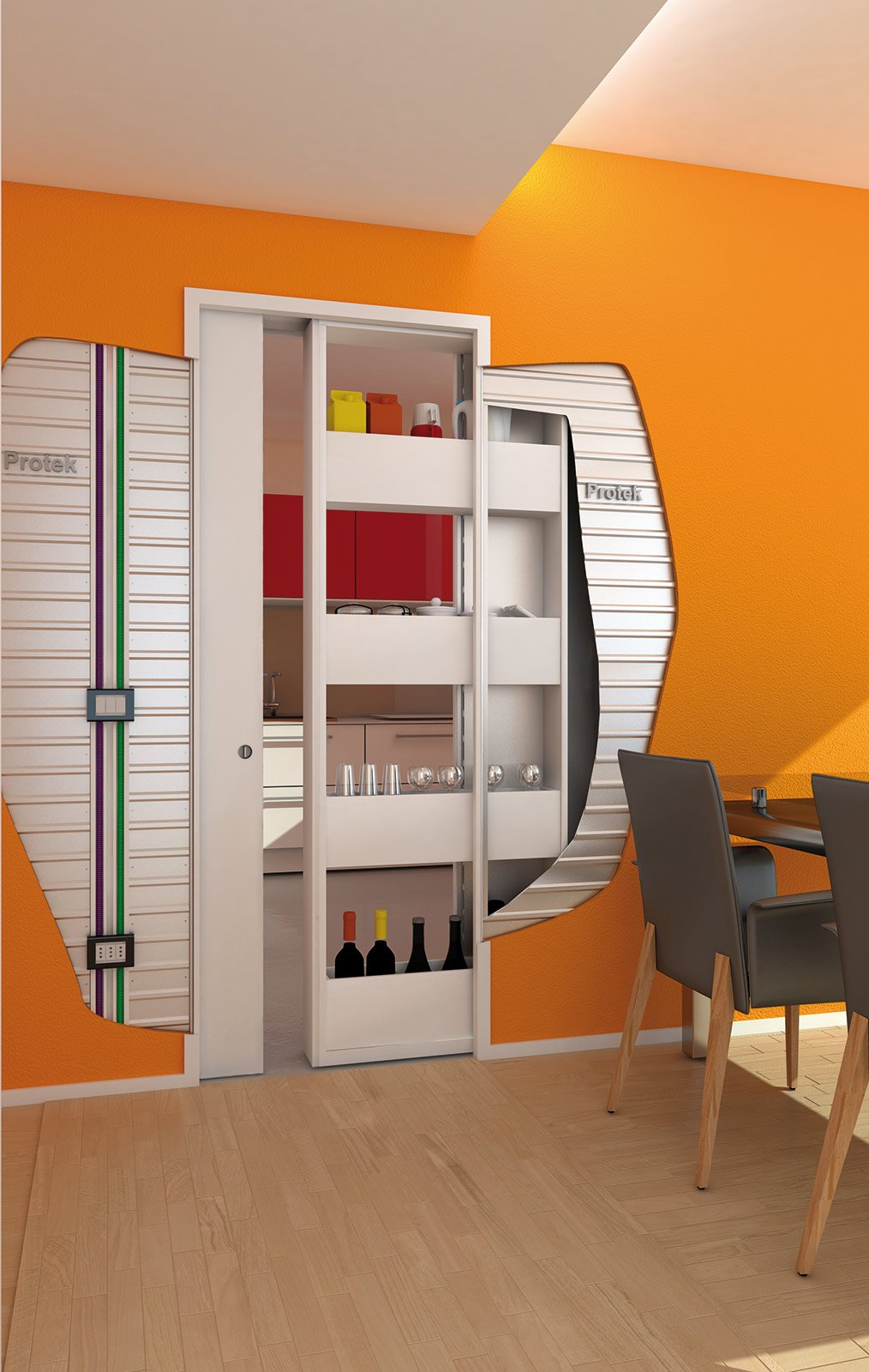 Controtelaio con contenitore cose di casa - Porta su parete cartongesso ...