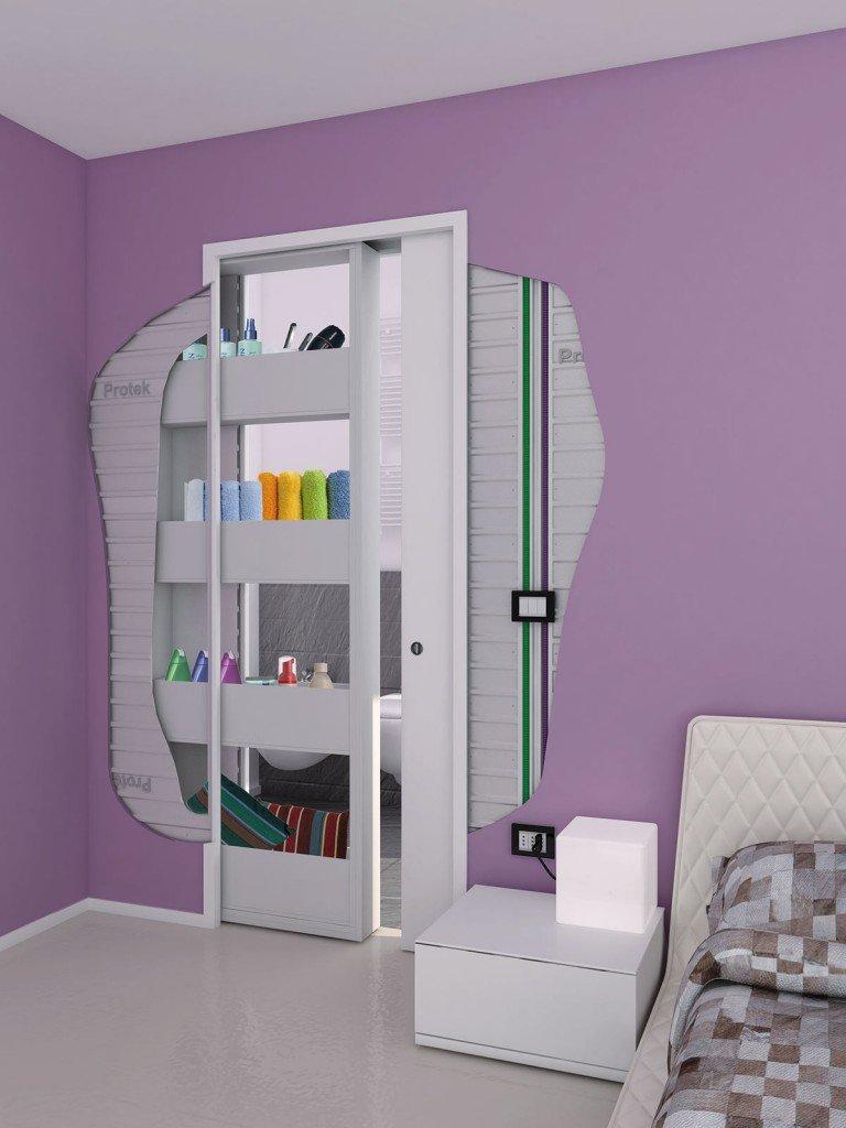 Controtelaio con contenitore cose di casa - Porte scorrevoli per cucina ...