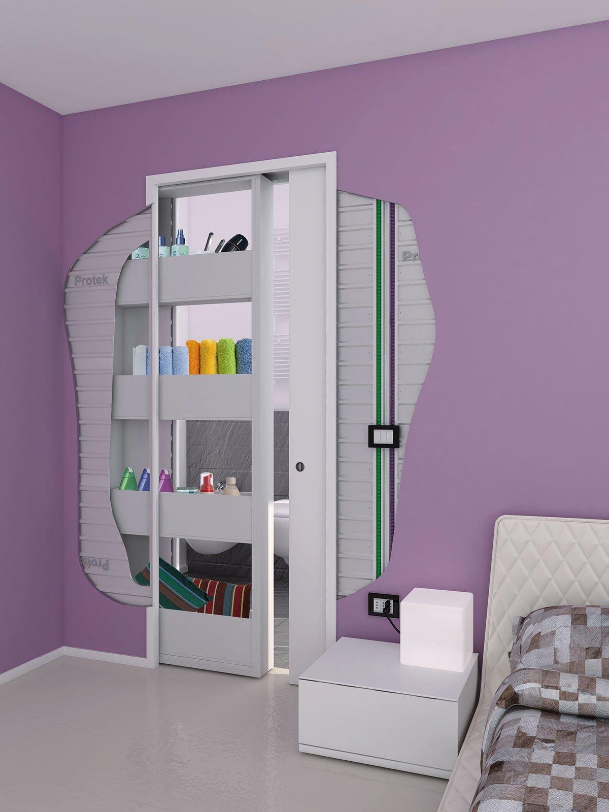 Controtelaio con contenitore cose di casa for Porte scorrevoli per cucina