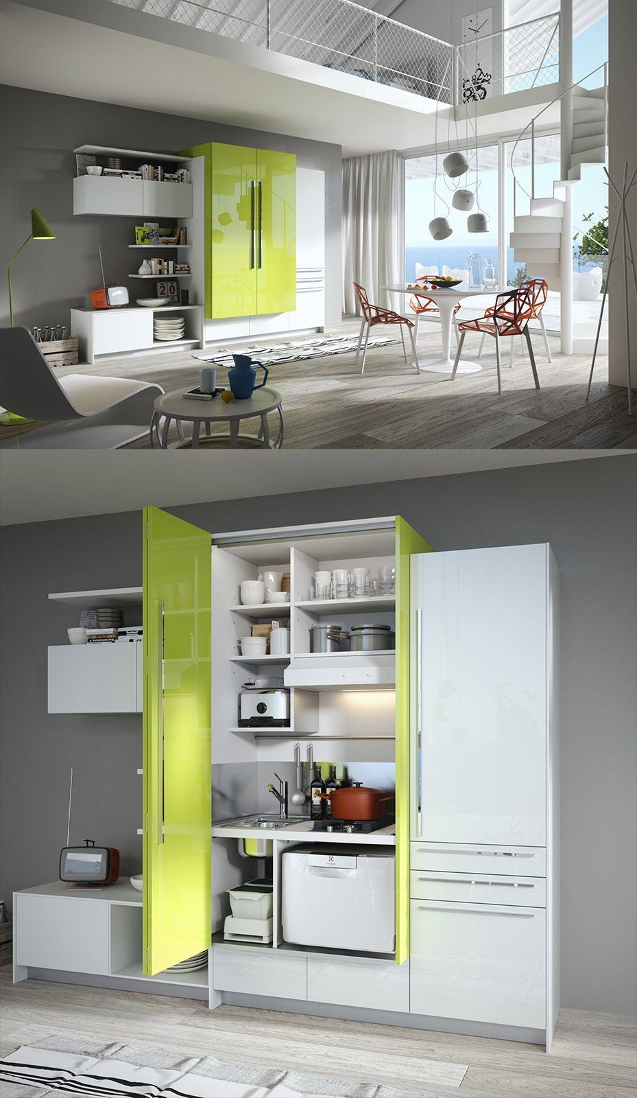 La cucina nell 39 armadio cose di casa for Mobili per pc a scomparsa