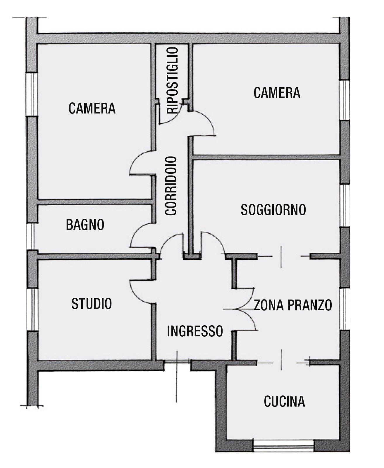 Bagno un progetto per renderlo pi grande e ricavare l 39 antibagno cose di casa - Progetto bagno 2 mq ...