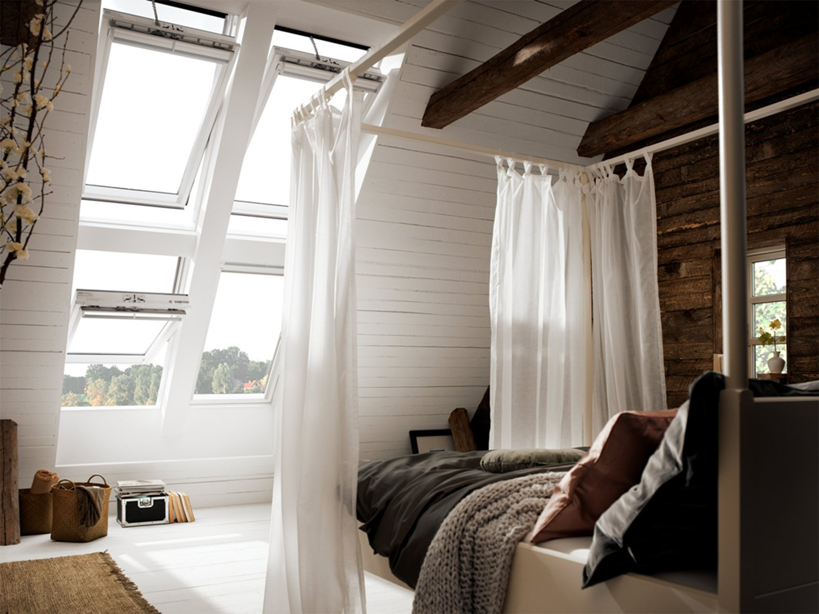 Lucernari come scegliere la finestra per il tetto cose for Velux tetto in legno