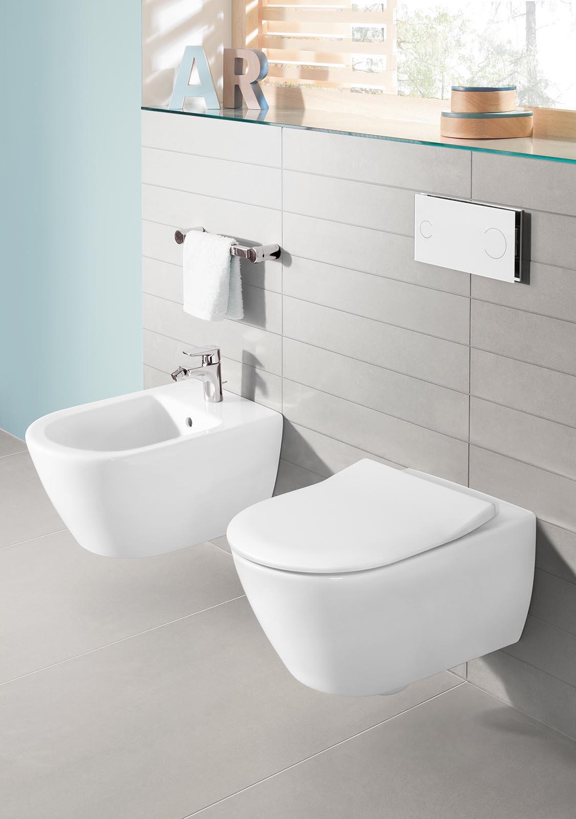 Sanitari sospesi per un bagno contemporaneo cose di casa - Dimensioni di un bagno ...