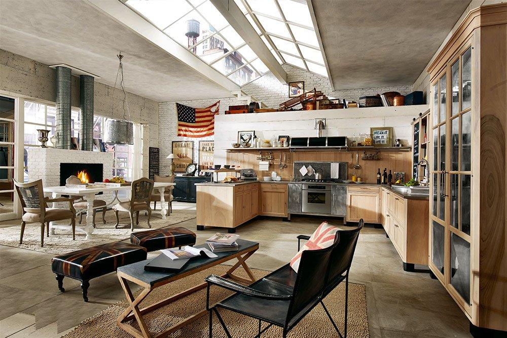 cucine open space con penisola - cose di casa - Marche Cucine Economiche