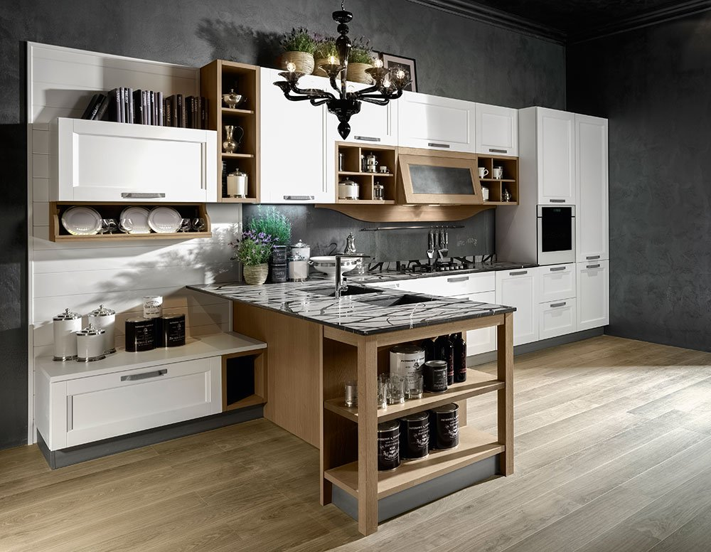 Cucine open space con penisola cose di casa for Accessori pensili cucina