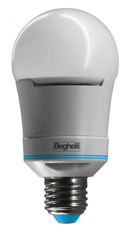 Funziona come una normale lampadina, ma si accende automaticamente in caso di mancanza di rete elettrica. A 10 W, Sorpresa PowerLed di Beghelli ha attacco E27. www.beghelli.com