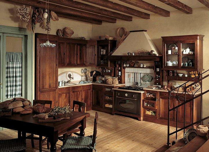 Pareti In Legno Stile Country : Cucine classiche in legno tradizione ...