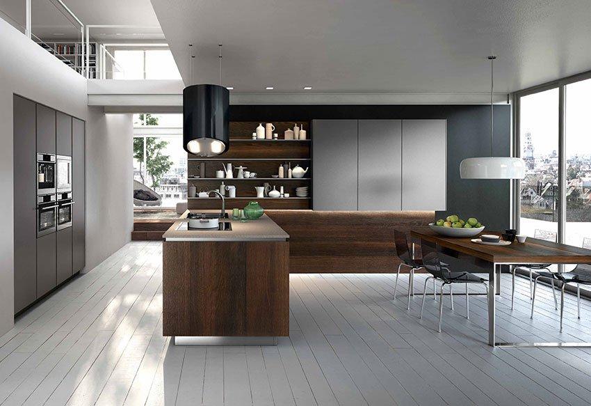 cucine open space con penisola  cose di casa, Disegni interni