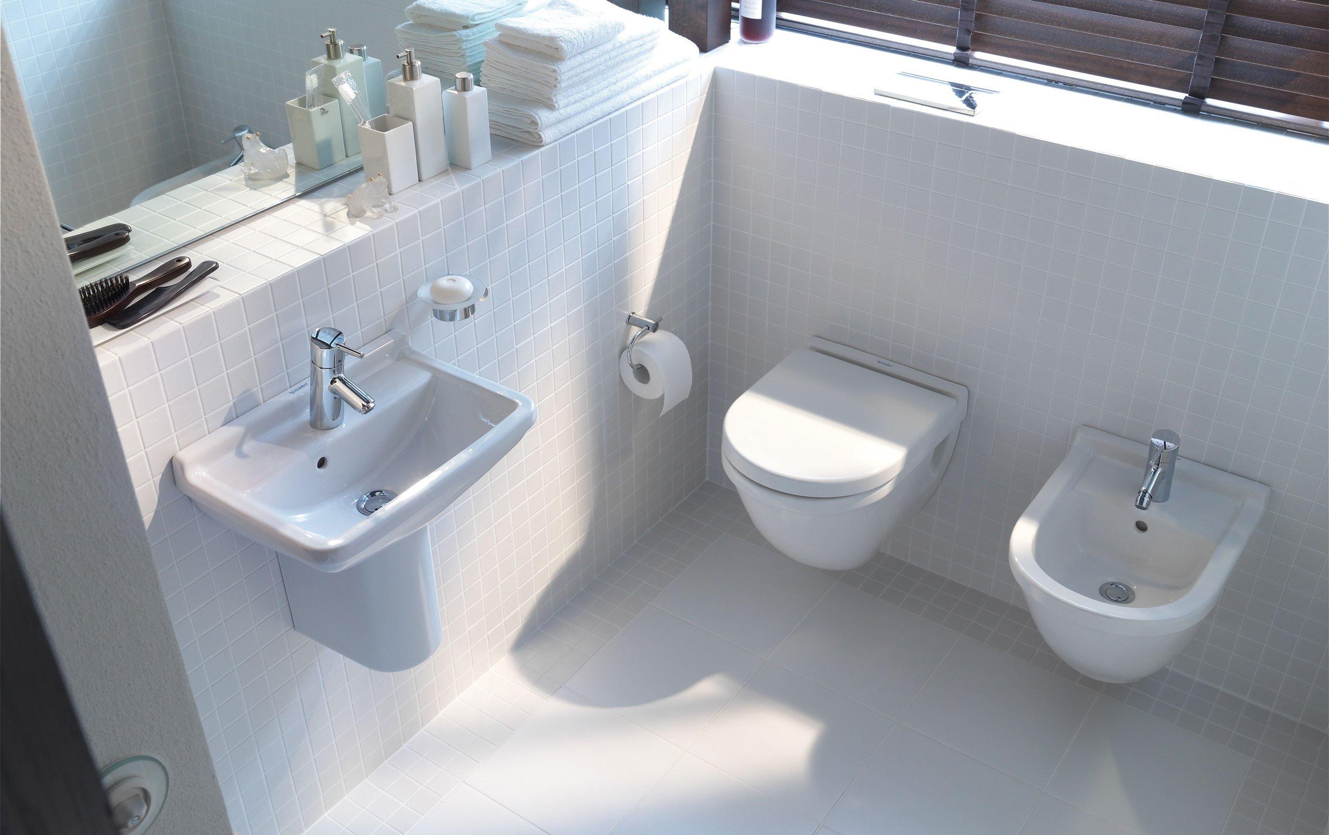 Sanitari sospesi e salvaspazio cose di casa - Misure scarichi sanitari bagno ...